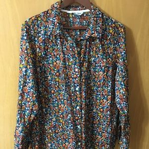 Women's Floral Button up Top XLarge